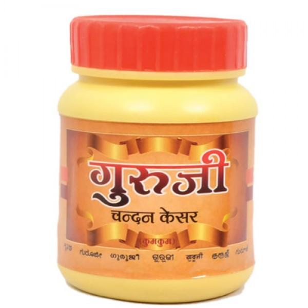 Guruji Chandan Kesar (scented) kum kum 100gm x 6 pieces